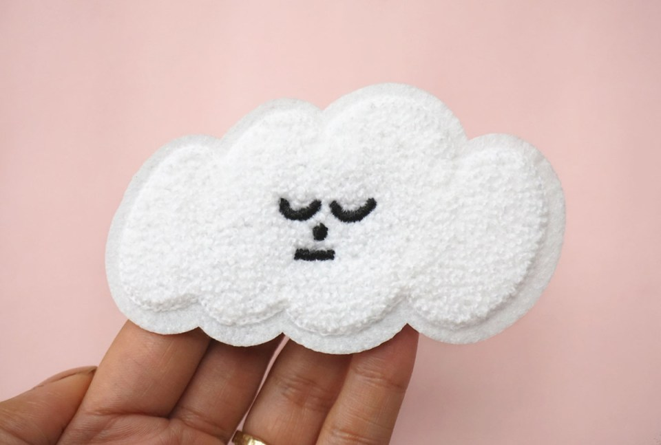 Cloud patch from Holly's Goodnight Kickstarter