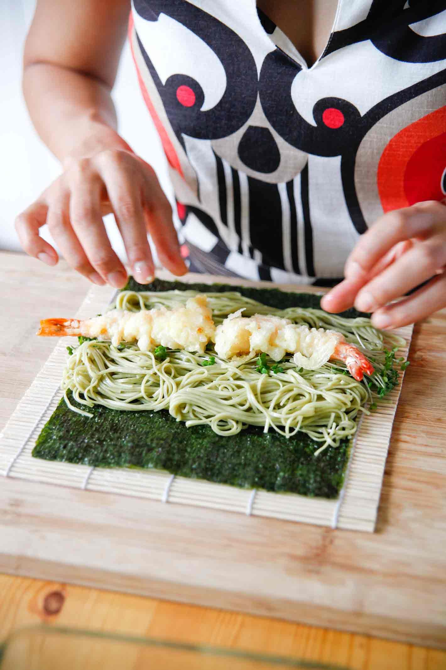 soba noodle sushi recipe