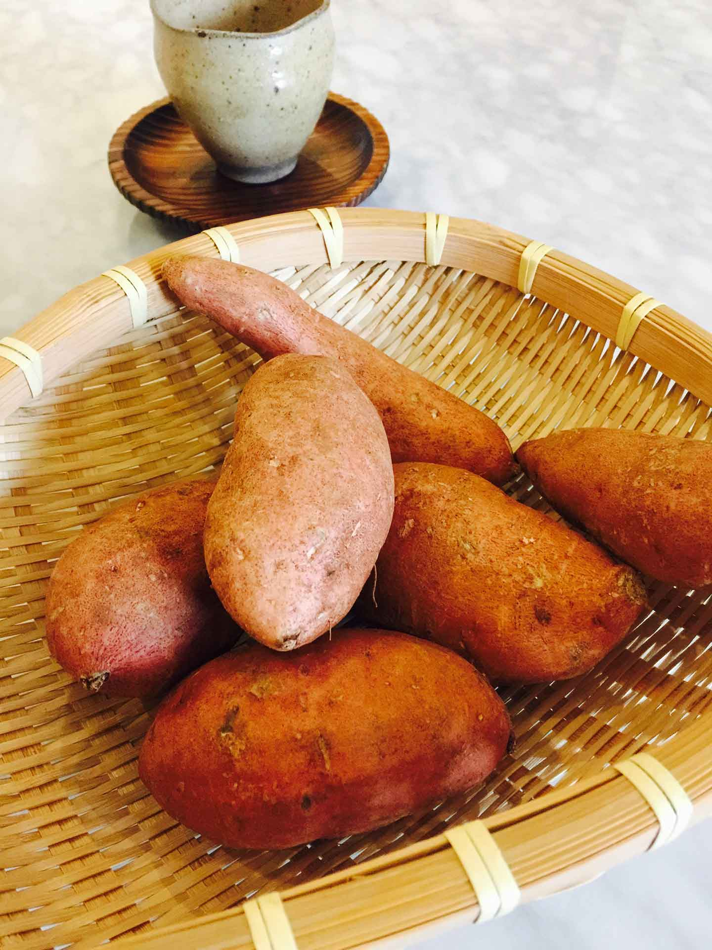 japanese sweet potatoes ready for cooking