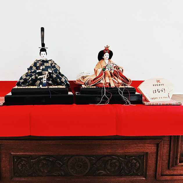 These are my daughter's hinamatsuri dolls