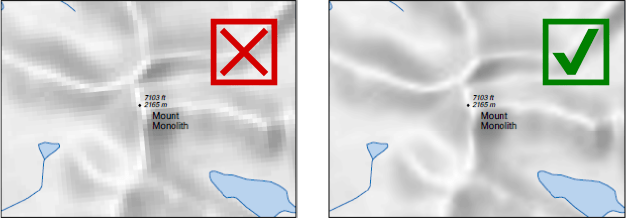 image comparing default with bilinear