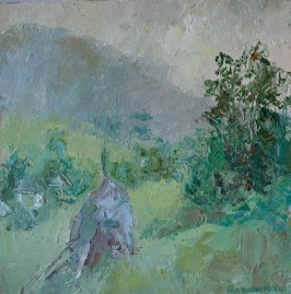 Landscape. oil on canvas 40*40сm. 200€