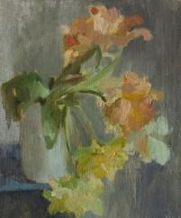 Yellow tulips. oil on canvas 40*30 сm.