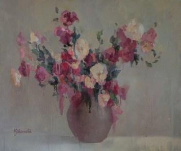 Eustoma 100-120cm, oil on canvas. 1000 €