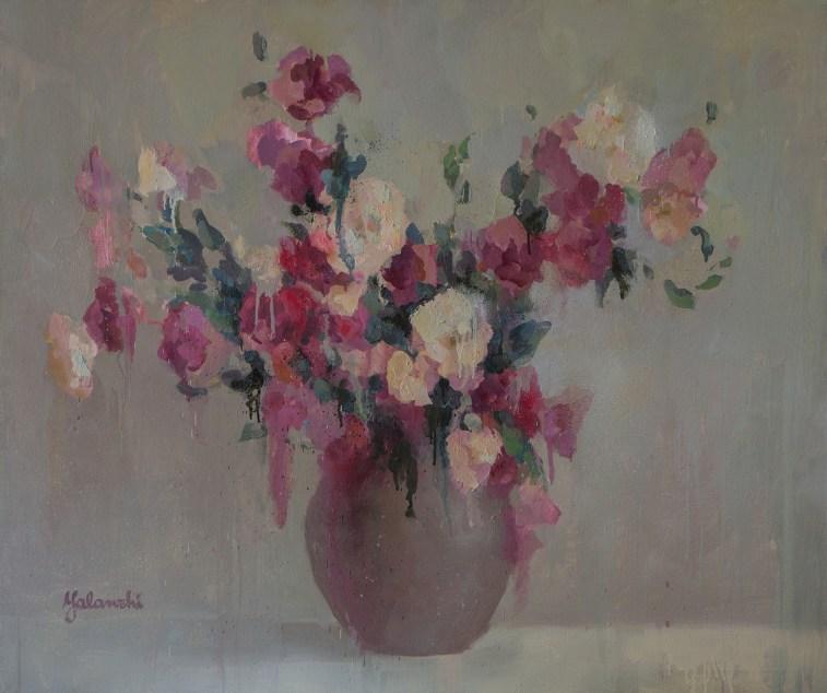 Eustoma 100-120cm, oil on canvas.