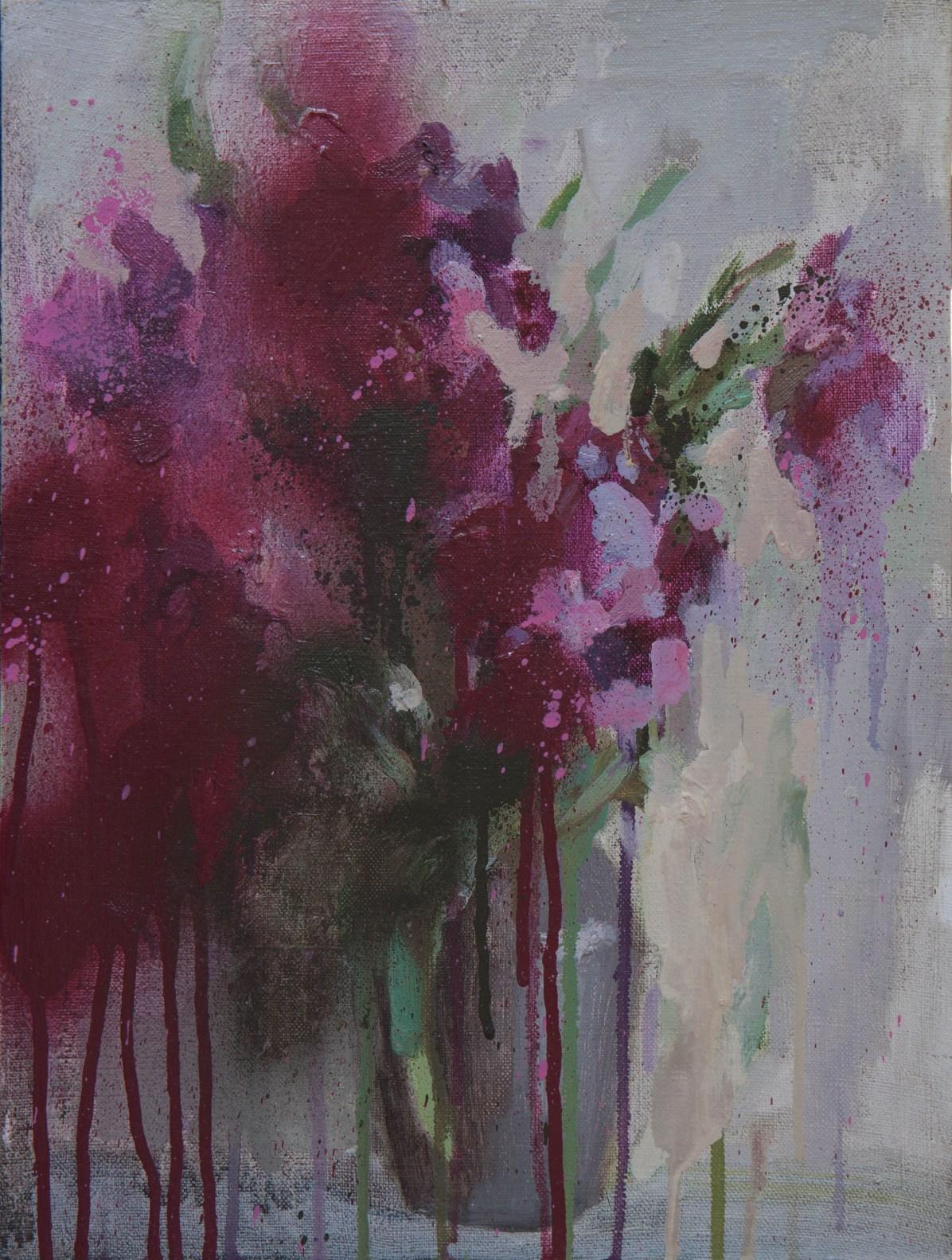 Bouquet, oil on canvas. 40*30cm. 150€