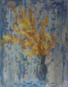 Yellow flowers, 100-70cm. oil on canvas. 500€