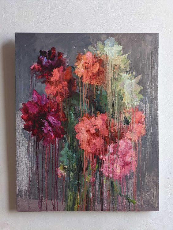 Dahlias_canvas_oil_painting_100_80cm_Yalanzhi_Yulia_2020