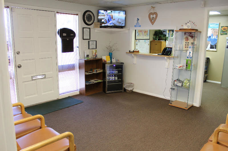 the view of our yuma, arizona front office, where we meet our patients for their hearing aid appointments