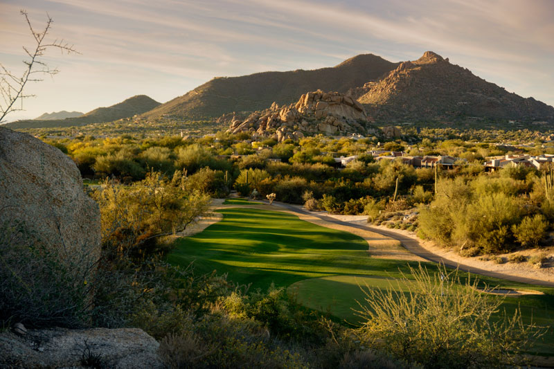 a desert golf course in scottsdale az