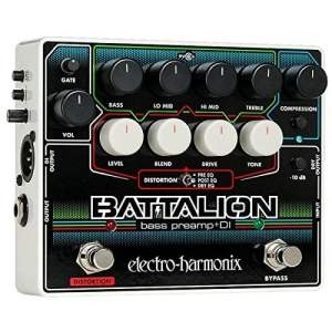 Electro Harmonix Battalion Bass Preamp and DI Pedal for Bass Guitar