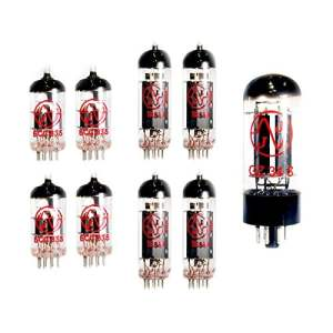 Replacement Valve Kit, Tubes for ORANGE AD30 amplifiers that use FOUR EL84 AND FOUR ECC83 12AX7 TUBES AND ONE GZ34 RECTIFIER TUBE