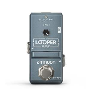 ammoon AP-09 Nano Loop Electric Guitar Effect Pedal Looper True Bypass Unlimited Overdubs 10 Minutes Recording (Blue)