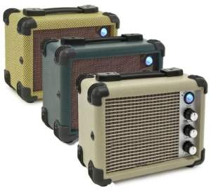 Honkin Toms 5W Vintage Style Busking Mini MP3 Amplifier suitable for Guitar, Uke and of course Harmonica (Vintage Tweed)