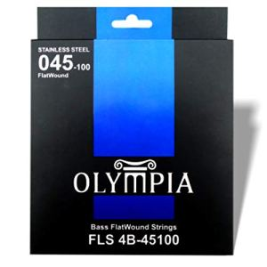 Flatwound bass guitar strings by Olympia 45-100 gauge