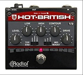 Radial Tonebone Hot British V9 distortion effects pedal