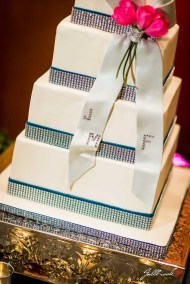 The Wedding Cake of Jeff and Minda at the Hilton Garden Inn in Yuma, Arizona made by Susie King from Piece of cake