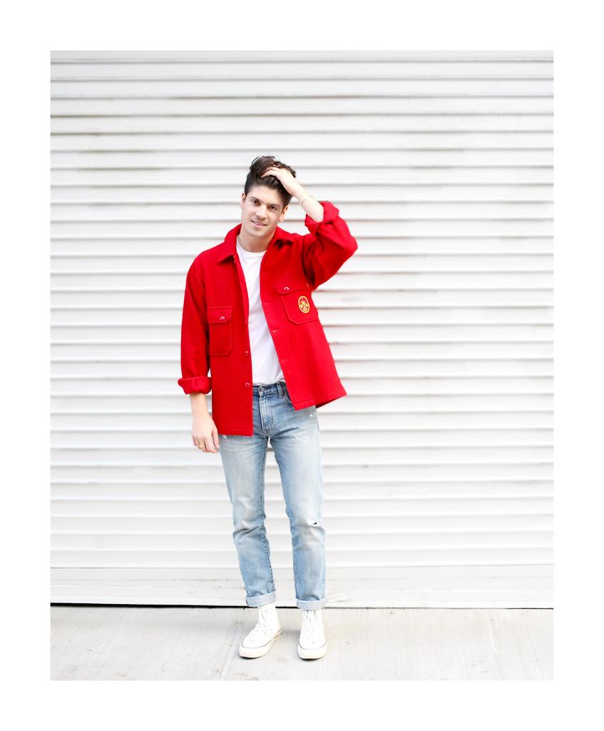 Brock, of Yummertime, in red coat