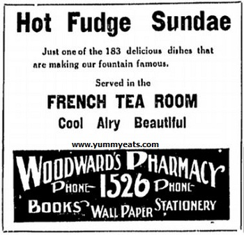 retro Soda Fountain Hot Fudge Sundae