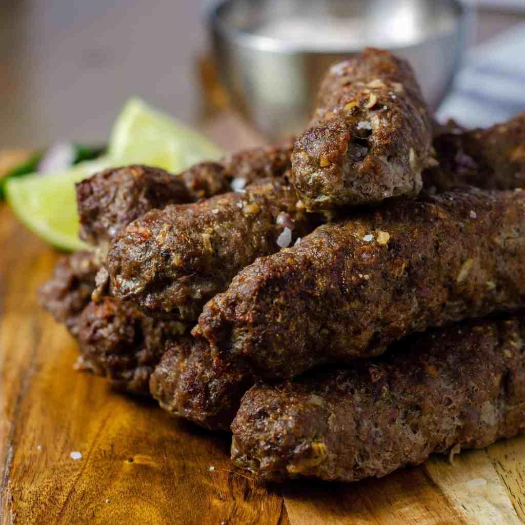 Low Carb Indian Seekh Kebab Stack