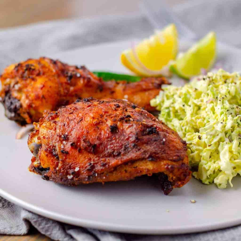 Keto Peri Peri chicken with coleslaw