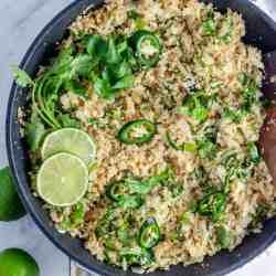 Keto cilantro lime rice recipe image