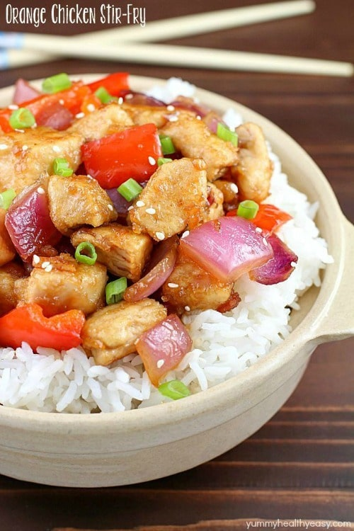 Orange Chicken Stir Fry by Yummy Healthy Easy