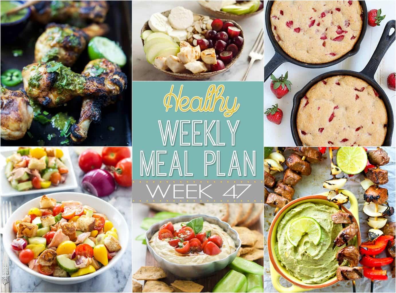 Healthy Weekly Meal Plan 47