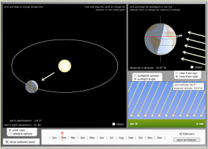 Click on this image or the link above to go to the Magic of Physics site and simulator.