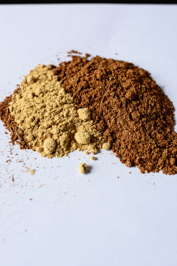 partial spice mix on the table