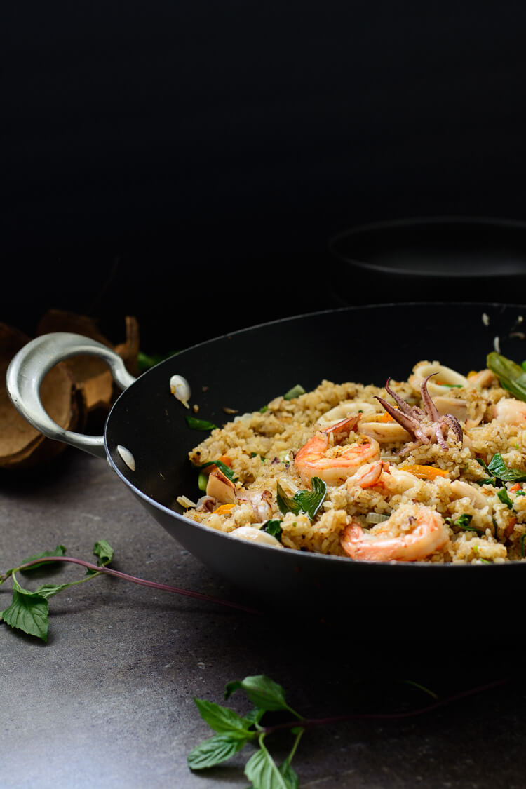 Seafood medley coconut fried rice fisherman 39 s rice for Where can i buy fresh fish near me