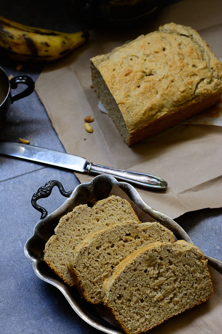Easy and Mouthwatering Vegan Plantain Bread - 3 loaves and bread top shot