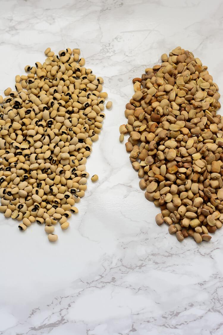Nigerian Beans Porridge (Ewa Oloyin) - Black Eyed Peas vs Honey Beans