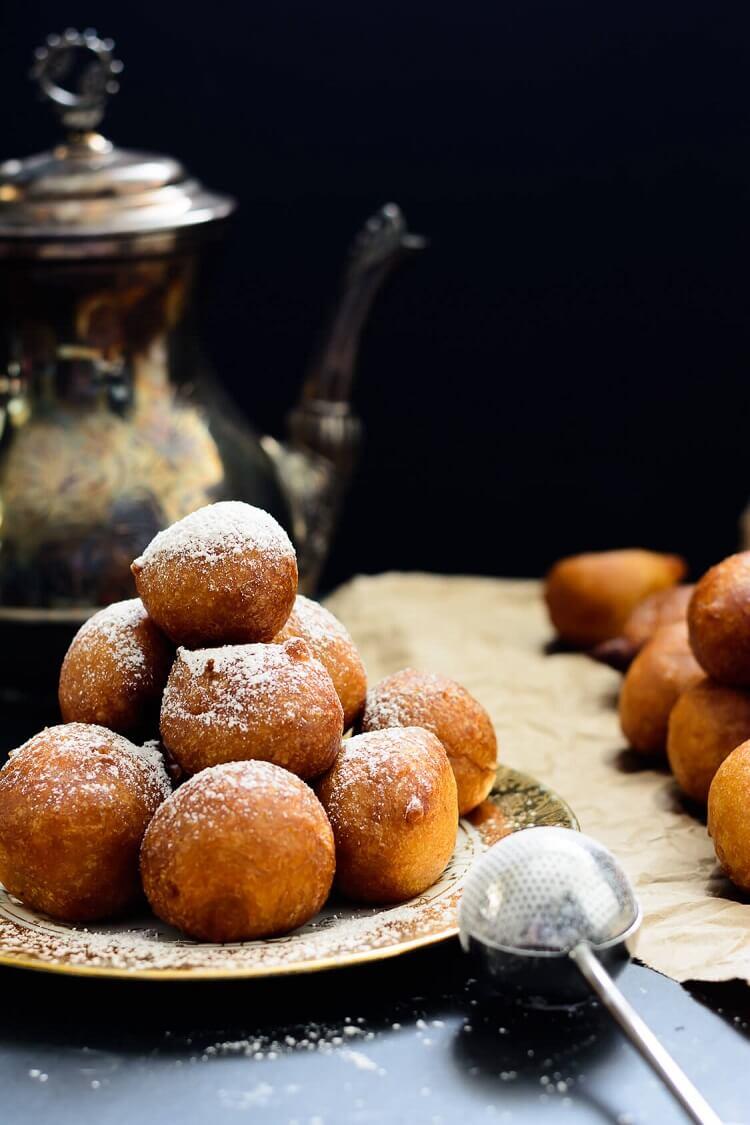 Pumpkin Drop Donuts (Nigerian Pumpkin Puff Puff) - flavored with some pumpkin spice sugar