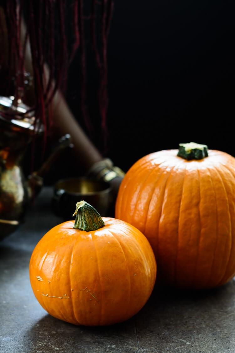 Homemade Pumpkin Puree from Scratch - a couple of large pumpkins