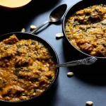 Miyan Taushe: Nigerian Pumpkin Stew - Two bowls of delicious soup served