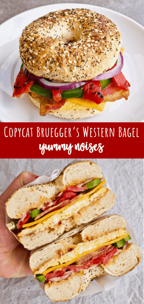 Shareable social media image of Copycat Bruegger's Western Bagel