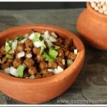 Pindi Chole / Rawalpindi Style Dry Chickpea Fry