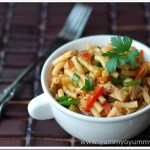 Spicy Macaroni with Chicken and Veggies