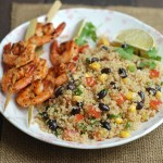 Quinoa Salad with Spicy Grilled Shrimp