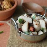 Kozhukatta Ularthu with Varutharacha Chicken Curry