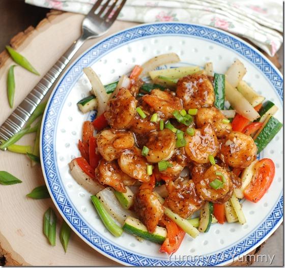 Lemon pepper prawns