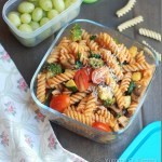 Pasta with vegetables and homemade marinara sauce – Kids' Lunch idea 1