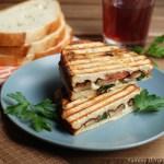 Portobello Mushroom and Fresh Mozzarella Sandwich