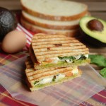 Avocado, Egg and Mozzarella Sandwich