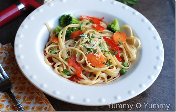 Butter vegetable pasta