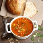 Quick Marinara and Vegetable Soup