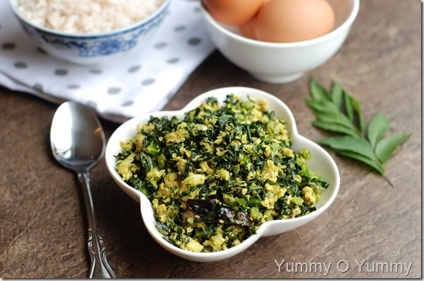 Kale and egg stifry
