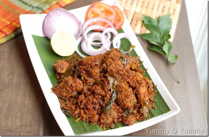 Chicken Coconut Ularthiyathu