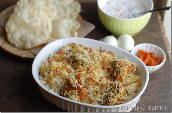 Fried Chicken Biriyani